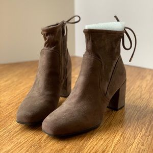 Franco Sarto Taupe Ankle Boots Size 8